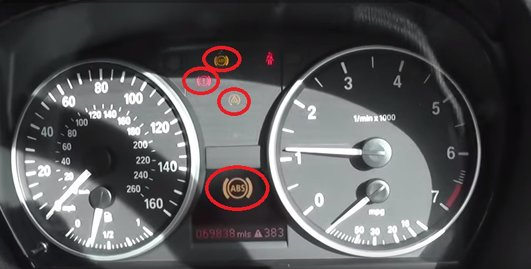 BMW E E E E Series Dash Lights - Bmw e90 warning signs