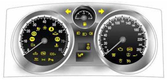 Vauxhall Opel Zafira B Car Warning Lights