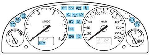2005 ford taurus warning lights