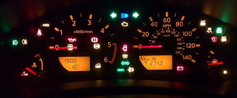 Nissan Navara D40 Car Warning Lights
