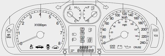 Kia Optima Dashboard Sdo Clocks Warning Light Symbols