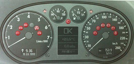Audi A6 C5 Dash Lights