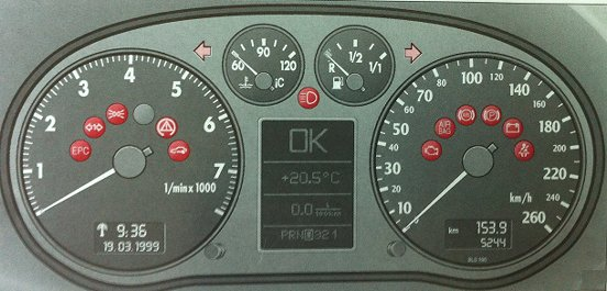 Audi A4 B6 Car Warning Lights