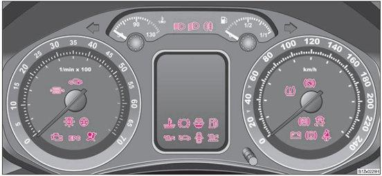 Skoda Octavia Mk2 dash lights