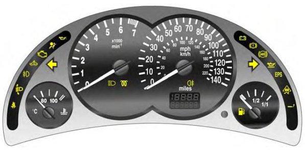 Vauxhall Opel Corsa C Car Warning Lights