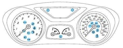 ford fiesta airbag light flashing