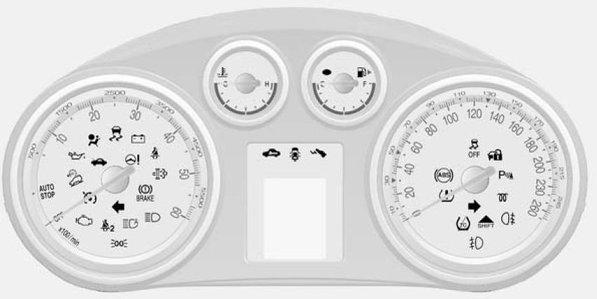car indicator lights coloring pages | Vauxhall Warning Lights Symbols | British Automotive
