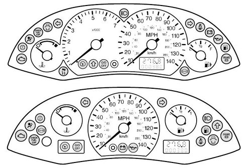Saturn Dashboard Warning Lights