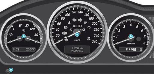 A Class W169 Dashboard Warning Lights