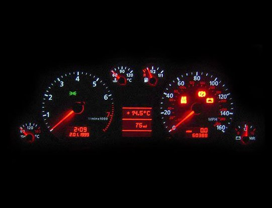 Audi A4 B5 dash warning lights