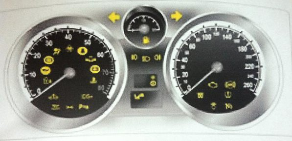 Astra H Dashboard Warning Lights Symbols